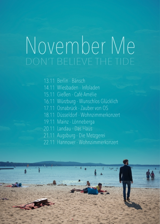 November Me Tourplakat